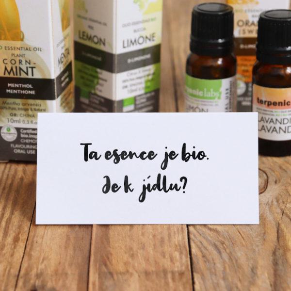 Bio éterické oleje k vnitřnímu užívání