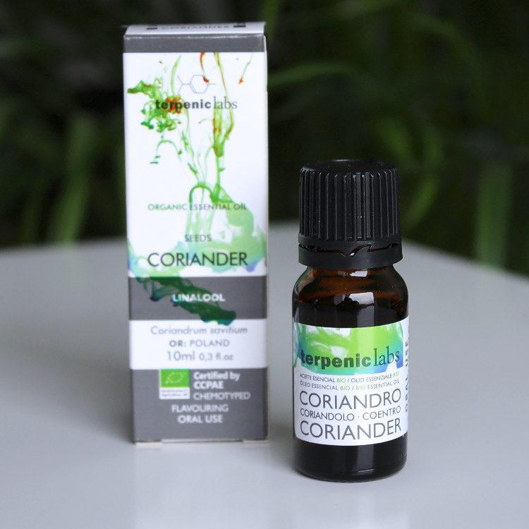 Esenciální olej koriandr BIO potravinářský