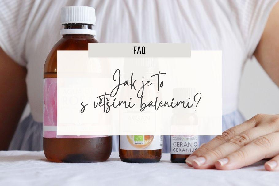 Různé velikosti terpenických produktů - esenciálních olejů, rostlinných olejů, hydrolátů...