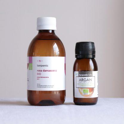 Pravý růžový hydrolát a arganový olej BIO