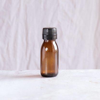 Lahvička z hnědého skla pro kosmetické i potravinářské užití (60 ml)