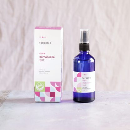 Růžová voda - hydrolát z růže damašské BIO certifikovaný ve spreji pro péči o pleť